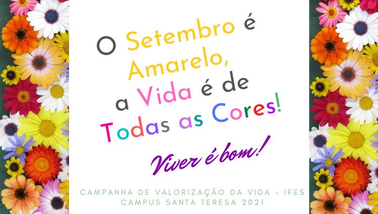 Campus Santa Teresa promove ações referentes ao Setembro Amarelo