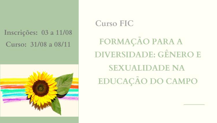 """Campus Santa Teresa oferta curso FIC em """"Formação para a Diversidade: Gênero e Sexualidade na Educação do Campo"""""""
